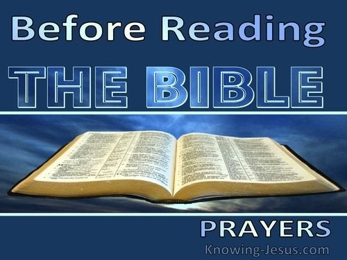 Prayers before reading the Bible