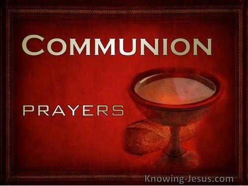 Prayers for Communion