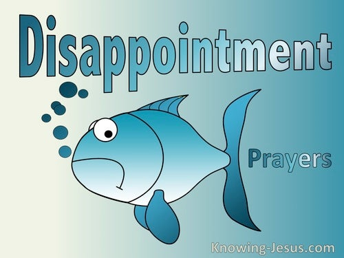 Prayer for Disappointments